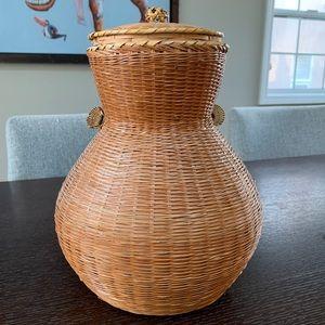 Wicker weaved vase